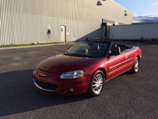 Used 2001 Chrysler Sebring Cabriolet 2 portes - LXi for sale in Quebec, QC