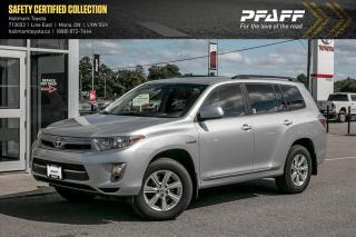 Used 2013 Toyota Highlander HYBRID 4wdi CVT for sale in Orangeville, ON
