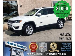 Used 2018 Jeep Compass North *4x4/B.tooth/Back.Cam/Htd Lthr/9Spd Auto for sale in Winnipeg, MB
