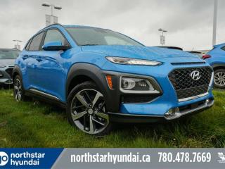Used 2020 Hyundai KONA Ultimate: 8 TOUCH SCREEN NAV SYSTEM,BLUELINK,INFINITY PREMIUM AUDIO,LEATHER SEATING SURFACE for sale in Edmonton, AB