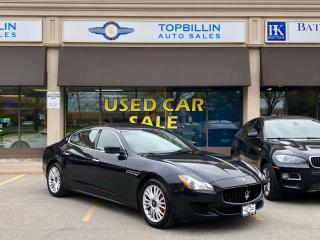 Used 2014 Maserati Quattroporte S Q4, Clean Carfax, Canadian for sale in Vaughan, ON