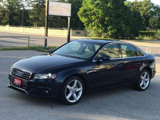Used 2011 Audi A4 2.0T Premium Plus|Low Mileage|1 Owner|NAV|BUC for sale in Cambridge, ON