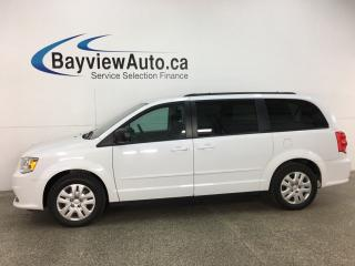Used 2016 Dodge Grand Caravan SE/SXT - 3 ZONE CLIMATE! STOW 'N GO! MID BUCKETS! FULL PWR GROUP for sale in Belleville, ON