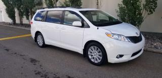 Used 2014 Toyota Sienna XLE; 7PASS, LEATHER, BLUETOOTH, BACKUP CAM, HEATED SEATS AND MORE for sale in Edmonton, AB