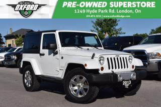 Used 2013 Jeep Wrangler Sahara - One Owner, Low Kms for sale in London, ON