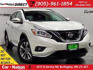 Used 2016 Nissan Murano SV| AWD| PANO ROOF| NAVI| for sale in Burlington, ON