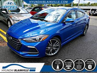 Used 2018 Hyundai Elantra SPORT 1.6T TURBO DÉMAR DIST, CUIR, TOIT+ for sale in Blainville, QC