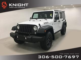 Used 2016 Jeep Wrangler Unlimited Willys Wheeler for sale in Regina, SK
