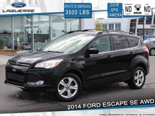 Used 2014 Ford Escape SE AWD**CUIR*GPS*CAMERA*BLUETOOTH*A/C** for sale in Victoriaville, QC