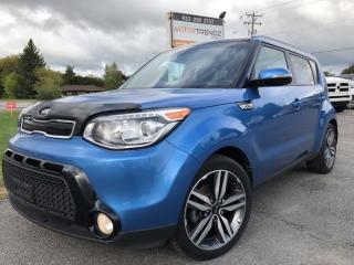 Used 2016 Kia Soul SX Luxury NAV! Leather, Panoramic Roof, Heated Steering, Heated Front AND Rear Seats, BackupCam, Lane Departur for sale in Kemptville, ON