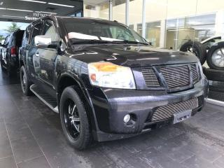 Used 2012 Nissan Armada SV 4WD, ACCIDENT FREE, POWER HEATED LEATHER SEATS, DVD ENTERTAINMENT SYSTEM, BACK-UP CAMERA for sale in Edmonton, AB