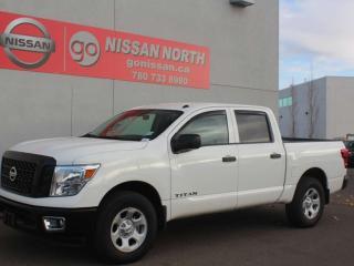 New 2019 Nissan Titan S/4X4/CREW CAB/BACKUP CAM for sale in Edmonton, AB