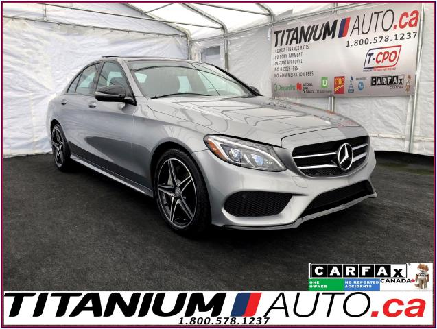 2016 Mercedes-Benz C-Class Night & AMG Sport PKG+GPS+Camera+Pano+Blind Spot