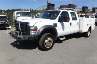 Used 2009 Ford F-450 SD Crew Cab 4WD Dually Diesel Service Truck for sale in Burnaby, BC