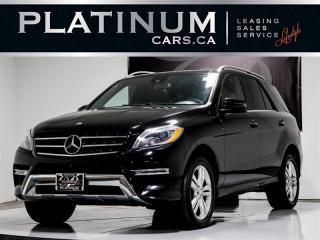 Used 2015 Mercedes-Benz ML 350 4MATIC, BLUETEC DIESEL, NAVI, CAM, SUNROOF for sale in Toronto, ON