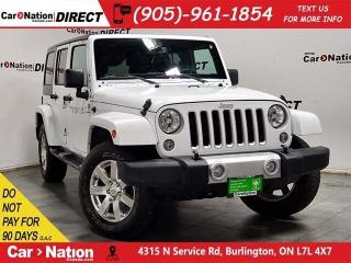 Used 2017 Jeep Wrangler Unlimited Sahara| 4X4| LEATHER| NAVI| BACK UP CAM| for sale in Burlington, ON