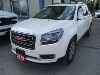 Used 2015 GMC Acadia ALL-WHEEL DRIVE SLT-1 MODEL 7 PASSENGER 3.6L - V6.. CAPTAINS.. THIRD ROW.. LEATHER.. HEATED SEATS.. BOSE AUDIO.. DUAL SUNROOF.. BACK-UP CAMERA.. for sale in Bradford, ON