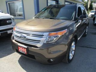 Used 2015 Ford Explorer FOUR-WHEEL DRIVE XLT EDITION 7 PASSENGER 3.5L - V6.. BENCH & THIRD ROW.. NAVIGATION.. LEATHER.. HEATED SEATS.. DUAL SUNROOF.. BACK-UP CAMERA.. for sale in Bradford, ON