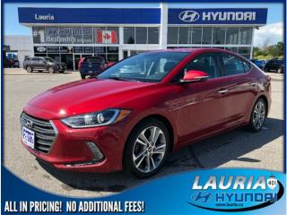 Used 2017 Hyundai Elantra Limited Auto - Navigation / Leather for sale in Port Hope, ON