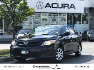 Used 2012 Toyota Corolla 4-door Sedan CE 4A Winter Tires, Heated Seats, Bluetooth for sale in Markham, ON