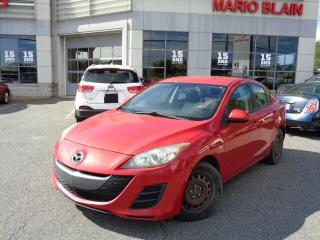 Used 2010 Mazda MAZDA3 GX * MANUELLE * AC * CRUISE * for sale in Mcmasterville, QC
