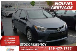 Used 2015 Toyota Corolla AIR CLIM* MANUELLE* BAS KILO* for sale in Drummondville, QC