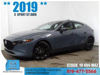 Used 2019 Mazda MAZDA3 Sport GT Premium **AWD** for sale in Drummondville, QC