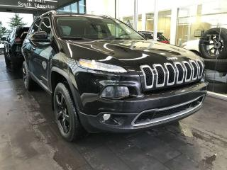 Used 2014 Jeep Cherokee LIMITED 4WD, ACCIDENT FREE, POWER HEATED/VENTED LEATHER SEATS, NAVI, KEYLESS IGNITION for sale in Edmonton, AB