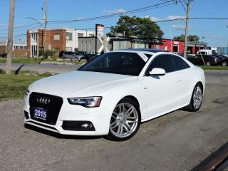 Used 2015 Audi A5 TechnikS-Line LeatherQuattro/Navi/RevCam/Blindspot for sale in BRAMPTON, ON