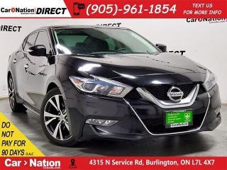 Used 2016 Nissan Maxima SL| LEATHER| DUAL SUNROOF| NAVI| for sale in Burlington, ON