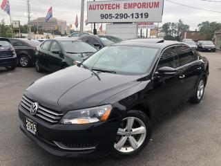 Used 2015 Volkswagen Passat TSI Comfortline Camera/Sunroof/Alloys&GPS* for sale in Mississauga, ON