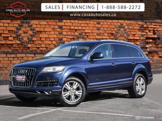 Used 2013 Audi Q7 Quattro 3.0L Premium AWD|7 Passenger|Certified|Warranty for sale in Scarborough, ON