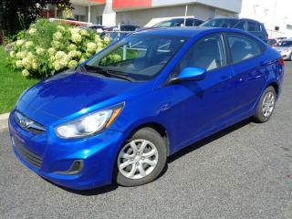 Used 2014 Hyundai Accent GL * A/C * BLUETOOTH * for sale in Ste-Julie, QC