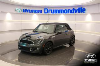 Used 2012 MINI Cooper CONVERTIBLE S + GARANTIE + NAVI + CUIR + MAGS + WOW for sale in Drummondville, QC