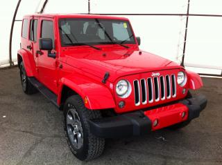 Used 2017 Jeep Wrangler Unlimited Sahara NAVIGATION, FACTORY REMOTE STARTER, 6.5 TOUCHSCREEN, HANDSFREE BLUETOOTH for sale in Ottawa, ON