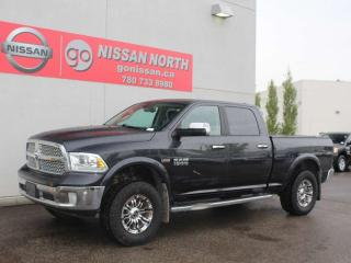 Used 2015 RAM 1500 Laramie/CREW CAB/5.7L HEMI V8/4X4/LEATHER/SUNROOF/HEATED/COOLED SEATS for sale in Edmonton, AB