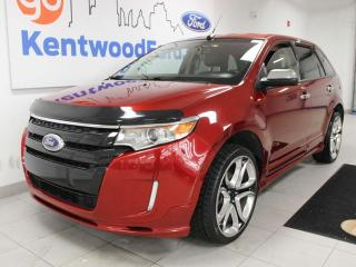 Used 2013 Ford Edge Sport AWD with power leather seats, keyless entry and back up cam for sale in Edmonton, AB