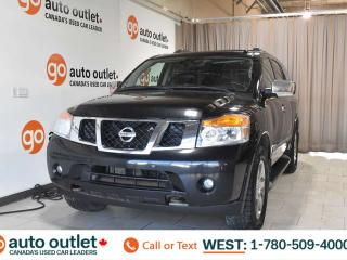 Used 2011 Nissan Armada Platinum, Third row 7 passenger seating, Navigation, Heated leather seats, Heated steering wheel, Backup camera, Sunroof, Bluetooth for sale in Edmonton, AB