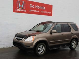 Used 2002 Honda CR-V EX-L LEATHER 4WD - FINANCING AVAILABLE for sale in Edmonton, AB