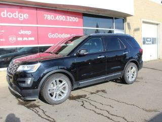Used 2016 Ford Explorer Limited / Sunroof / GPS Navigation / Back Up Camera for sale in Edmonton, AB