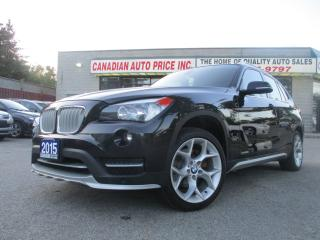 Used 2015 BMW X1 X1-AWD  xDrive28i-LTHER-PANO-ROOF-BTOOT-NO ACCIDEN for sale in Scarborough, ON