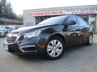 Used 2015 Chevrolet Cruze 1LT-AUTO-BACK UP CAMERA-BLUETOOTH-A/C-CRUISE-ALL P for sale in Scarborough, ON