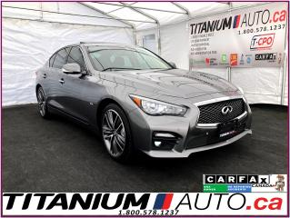 Used 2016 Infiniti Q50 3.0T Sport+AWD+GPS+360 Camera+Blind Spot+Lane Assi for sale in London, ON