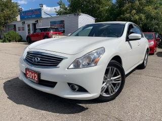 Used 2012 Infiniti G25X 4dr x AWD| LEATHER SEATS|MINT CONDITION| for sale in Brampton, ON