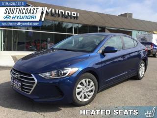 Used 2017 Hyundai Elantra LE  - Bluetooth -  Heated Seats - $95 B/W for sale in Simcoe, ON