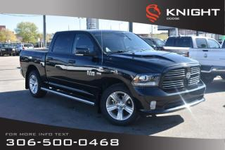 Used 2017 RAM 1500 Sport | Leather | Heated & Cooled Seats | RamBox | for sale in Swift Current, SK