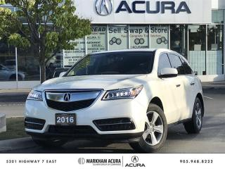 Used 2016 Acura MDX at SH-AWD, Heated Steering Wheel, Power Liftgate for sale in Markham, ON