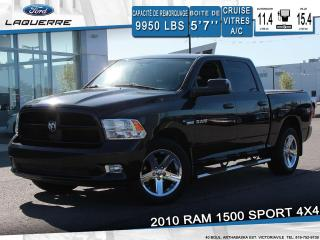 Used 2010 Dodge Ram 1500 SPORT 4X4**CUIR*CRUISE*A/C*GR ELECTRIQUE** for sale in Victoriaville, QC