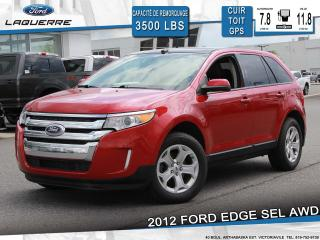 Used 2012 Ford Edge SEL**AWD*CUIR*TOIT*GPS*CAMERA*BLUETOOTH*A/C** for sale in Victoriaville, QC