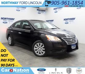 Used 2013 Nissan Sentra S | KEYLESS ENTRY | CD+AUX | CRUISE | BLUETOOTH | for sale in Brantford, ON